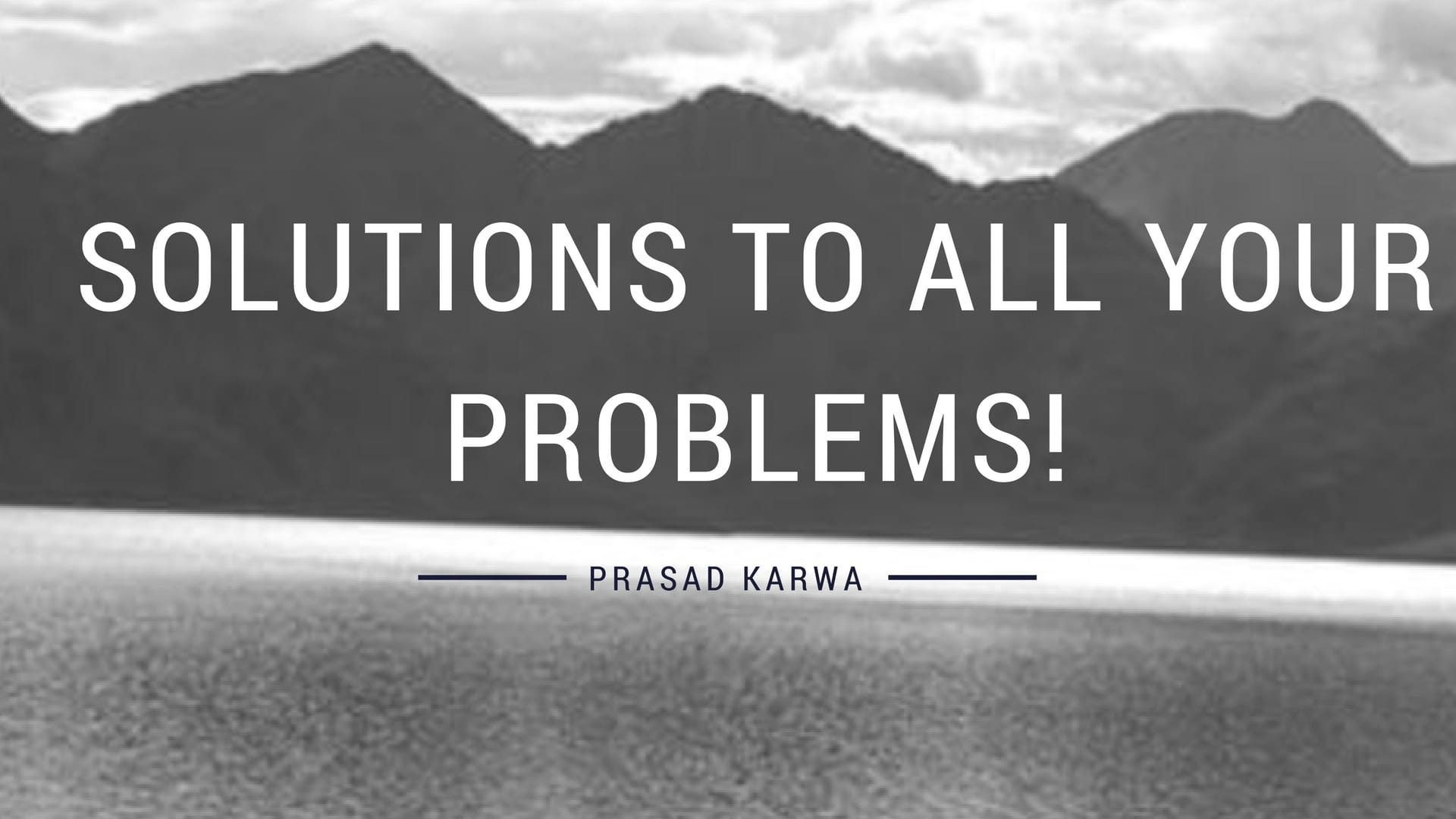Read more about the article Let the world know – That this is the solution to all your problems!