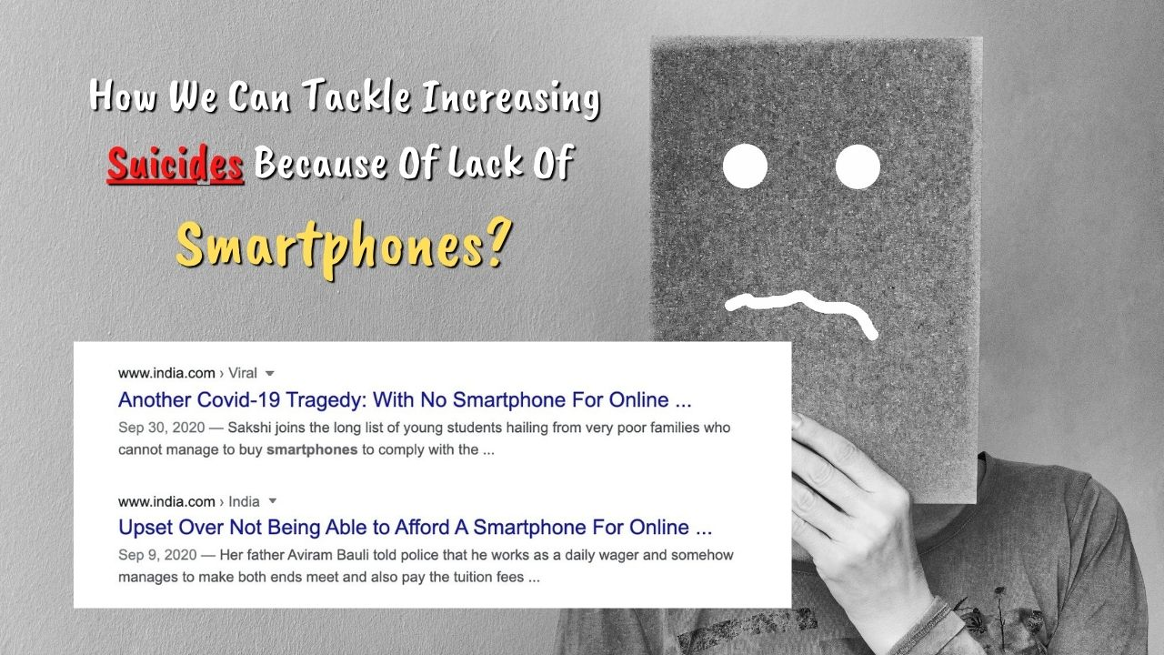Read more about the article Increase In Students Suicide Because They Can't Afford Smartphones For Studies